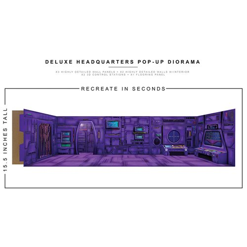 Deluxe Headquarters Pop-Up 1:12 Scale Diorama