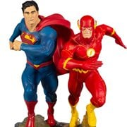 DC Gallery Superman vs. Flash Racing Statue 2nd Edition Statue