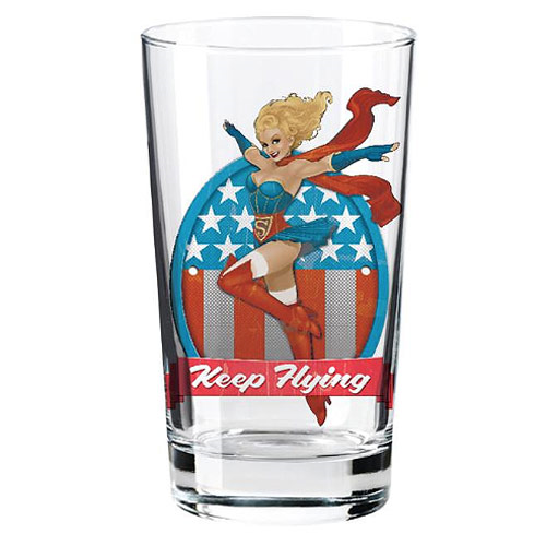 DC Comics Bombshells Supergirl Toon Tumbler Pint Glass