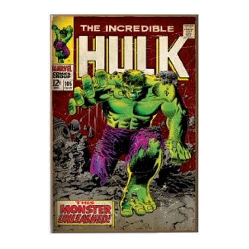 Incredible Hulk Unleashed Comic Book Cover Wood Wall Artwork