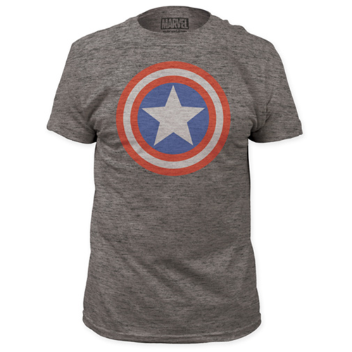 Captain America Shield Gray T-Shirt