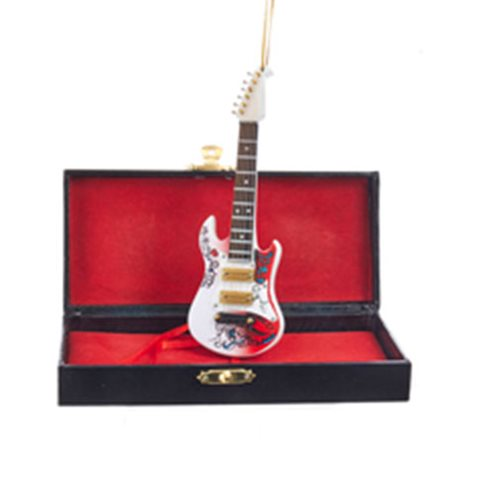 Guitar and Case 5 1/2-Inch Ornament