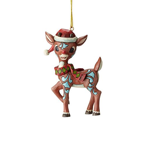 Rudolph the Red-Nosed Reindeer Rudolph in Santa Hat Ornament by Jim Shore