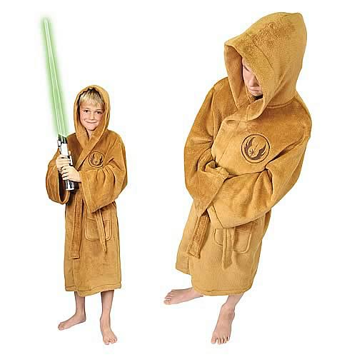 Star Wars Jedi Fleece Bath Robe Kids Large