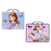 Sofia the First Large Embossed Carry All Tin Tote Lunch Box Set