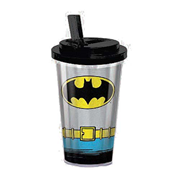 Batman Uniform 16 oz. Flip-Straw Travel Cup
