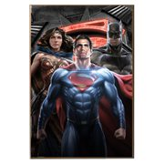 Batman v Superman: Dawn of Justice Group Shot Wood Wall Art