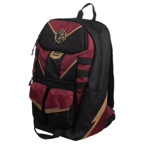 The Flash Black-and-Maroon Backpack