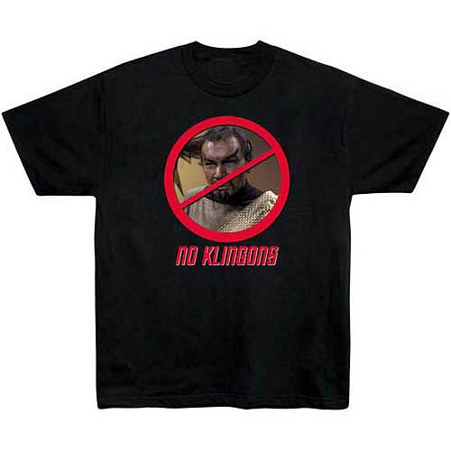 Star Trek Classic No Klingons T-Shirt