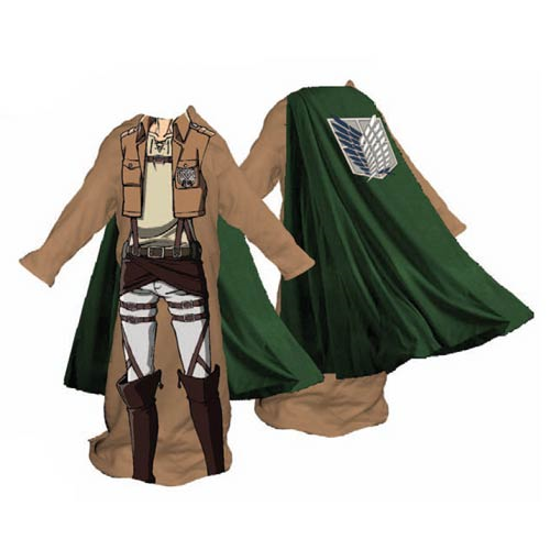 Attack on Titan Survey Corps Male Snuggler Blanket
