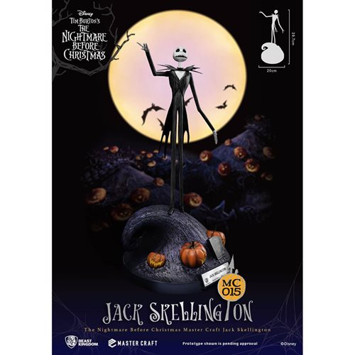 Nightmare Before Christmas Jack Skellington MC-015 Statue - Previews Exclusive