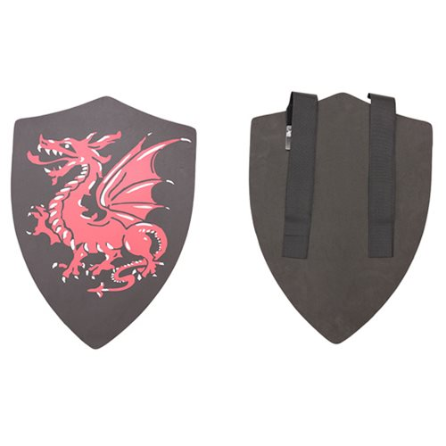 Hero's Edge Black Alantor with Red Dragon Foam Shield