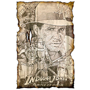 Indiana Jones and the Temple of Doom Key Art Concept Print