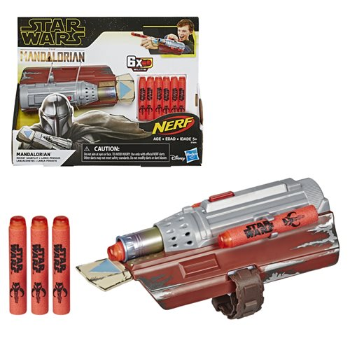 Star Wars The Mandalorian Rocket Gauntlet Nerf Dart Launcher