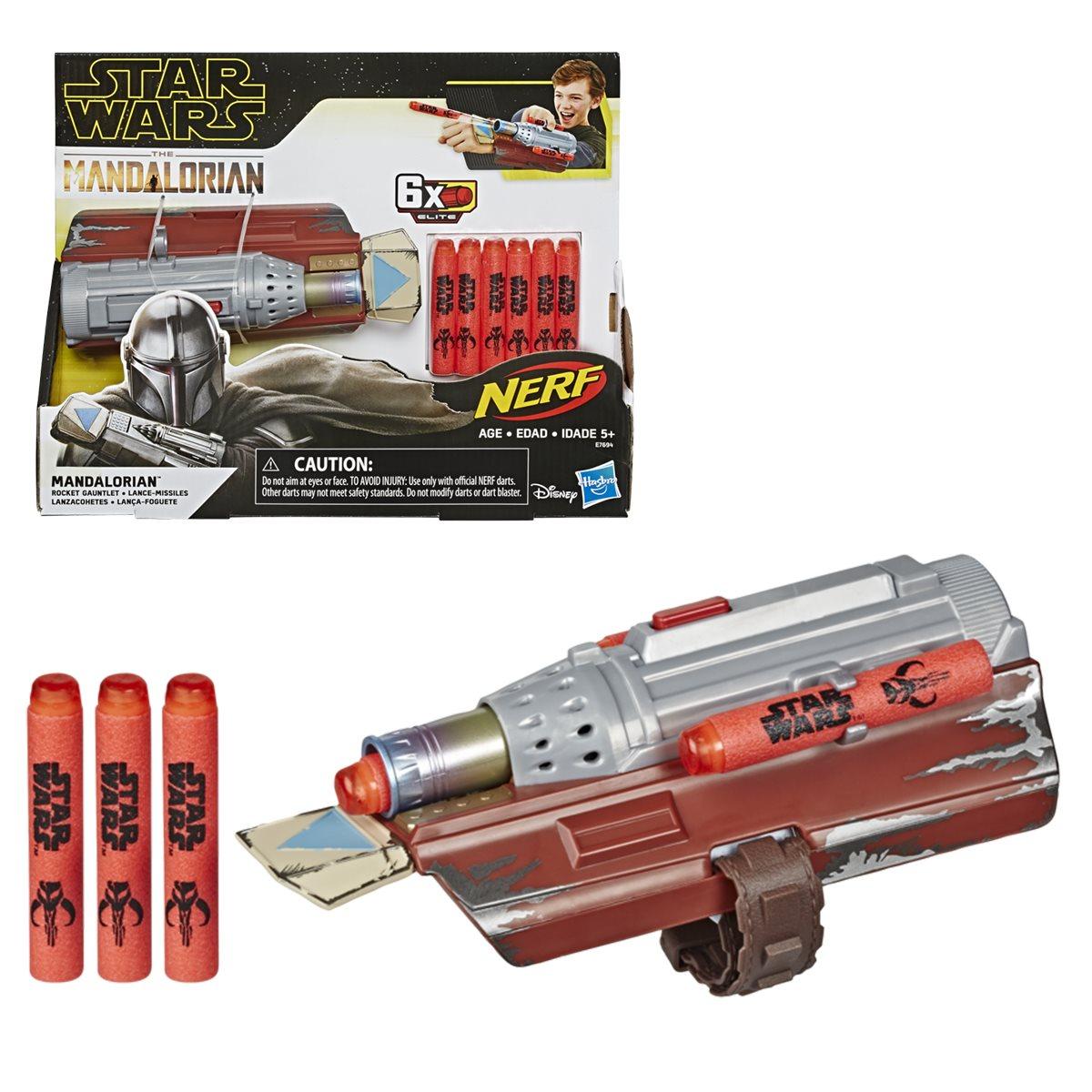 Star Wars The Mandalorian Rocket Gauntlet Nerf Dart Launcher