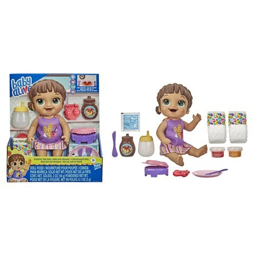 Baby Alive Breakfast Time Baby Brown Hair Doll