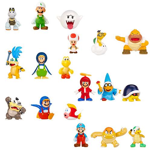 3-Pack : Fire Luigi Dry Bones Boo Mario Bros U Micro Figure