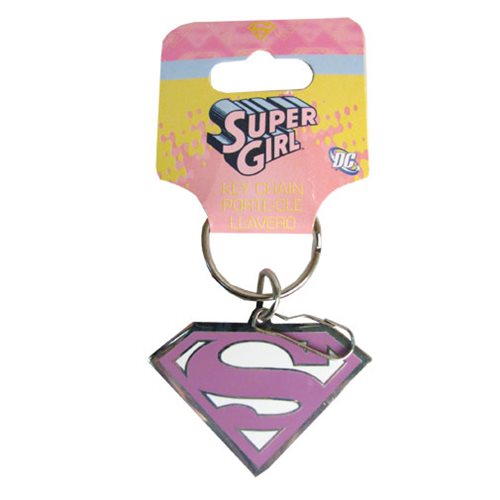 Supergirl Enamel Key Chain