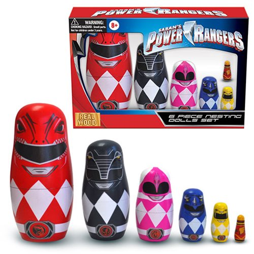 Mighty Morphin Power Rangers 6 Piece Nesting Dolls Set