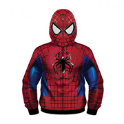 Spider-Man Sublimated Costume Fleece Zip-Up Hoodie
