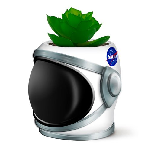 NASA Helmet with Solar System Ceramic Planter