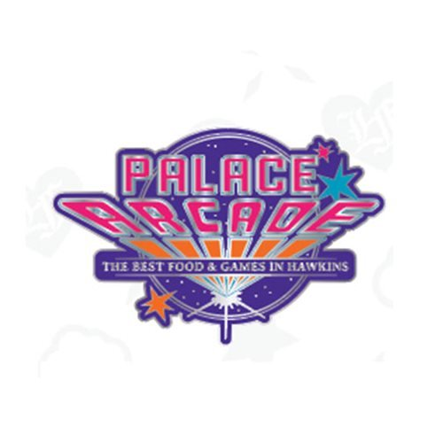 Stranger Things Palace Arcade Logo Enamel Pin