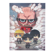 Attack on Titan Chibi Clouds 3D Lenticular Print
