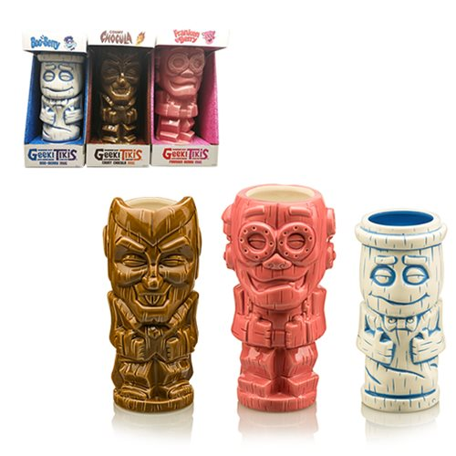 Cereal Monsters Geeki Tikis Count Chocula, Frankenberry & Boo Berry Mugs - SDCC Debut