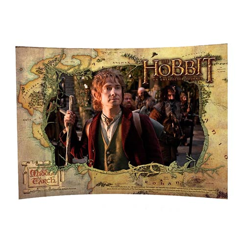 Hobbit An Unexpected Journey Bilbo Curved Glass StarFire Print
