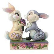 Disney Traditions Bambi Thumper and Blossom Snuggling Bunny Bouquet by Jim Shore Statue
