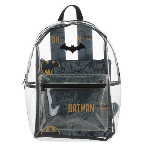 Batman Clear Backpack with Pouch