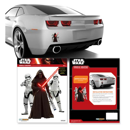 Star Wars: Episode VII - The Force Awakens Kylo Ren and Stormtroopers Mini Car Decal