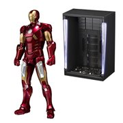 Marvel Iron Man Mark VII and Hall Of Armor Set SH Figuarts Action Figure P-Bandai Tamashii Exclusive