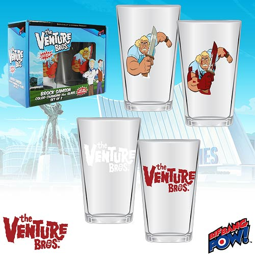 The Venture Bros. Color-Changing Brock 16 oz. Glass - Set of 2