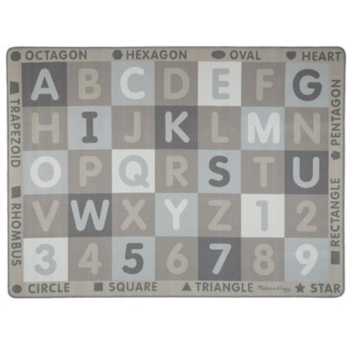Melissa & Doug Jumbo ABC-123 Rug Neutral Colors