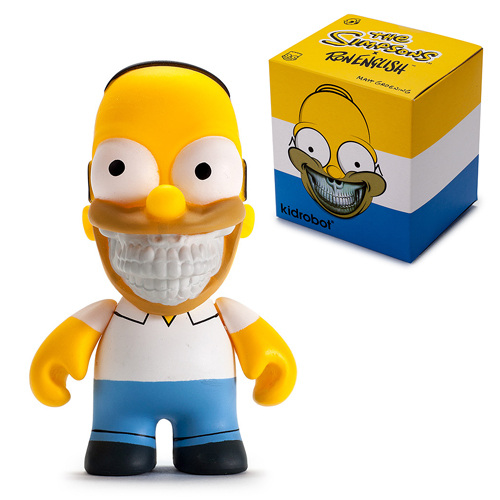 The Simpsons Homer Grin Ron English 3-Inch Vinyl Mini-Figure