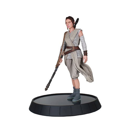 Star Wars Milestones The Force Awakens Rey Resin Statue