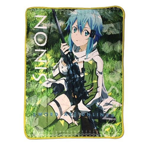 Sword Art Online 2 Sinon Sublimation Throw Blanket