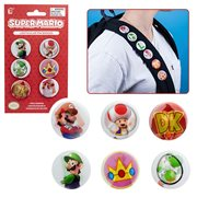 Super Mario Bros. Super Mario Lenticular Button 6-Pack