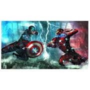 Captain America: Civil War Die Cut Embossed Tin Sign
