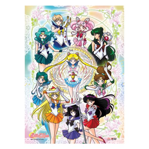 Sailor Moon Sailor Soldiers Floral Wall Scroll