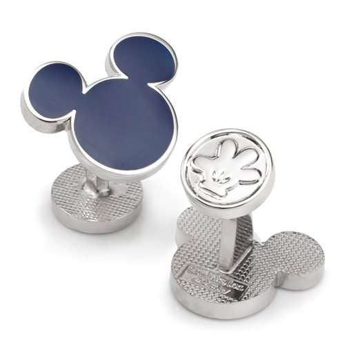 Mickey Mouse Silhouette Blue Cufflinks
