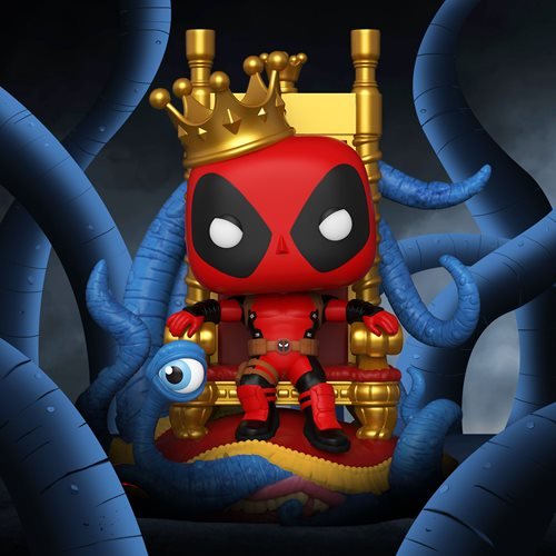Marvel Heroes King Deadpool on Throne Deluxe Pop! Vinyl Figure - Previews Exclusive