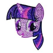 My Little Pony Twilight Sparkle Face Crystal Studded Decal
