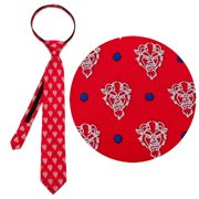 Beauty and the Beast The Beast Dot Red Boys Zipper Silk Tie