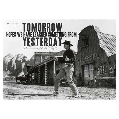 John Wayne Learn From Yesterday MightyPrint Wall Art Print