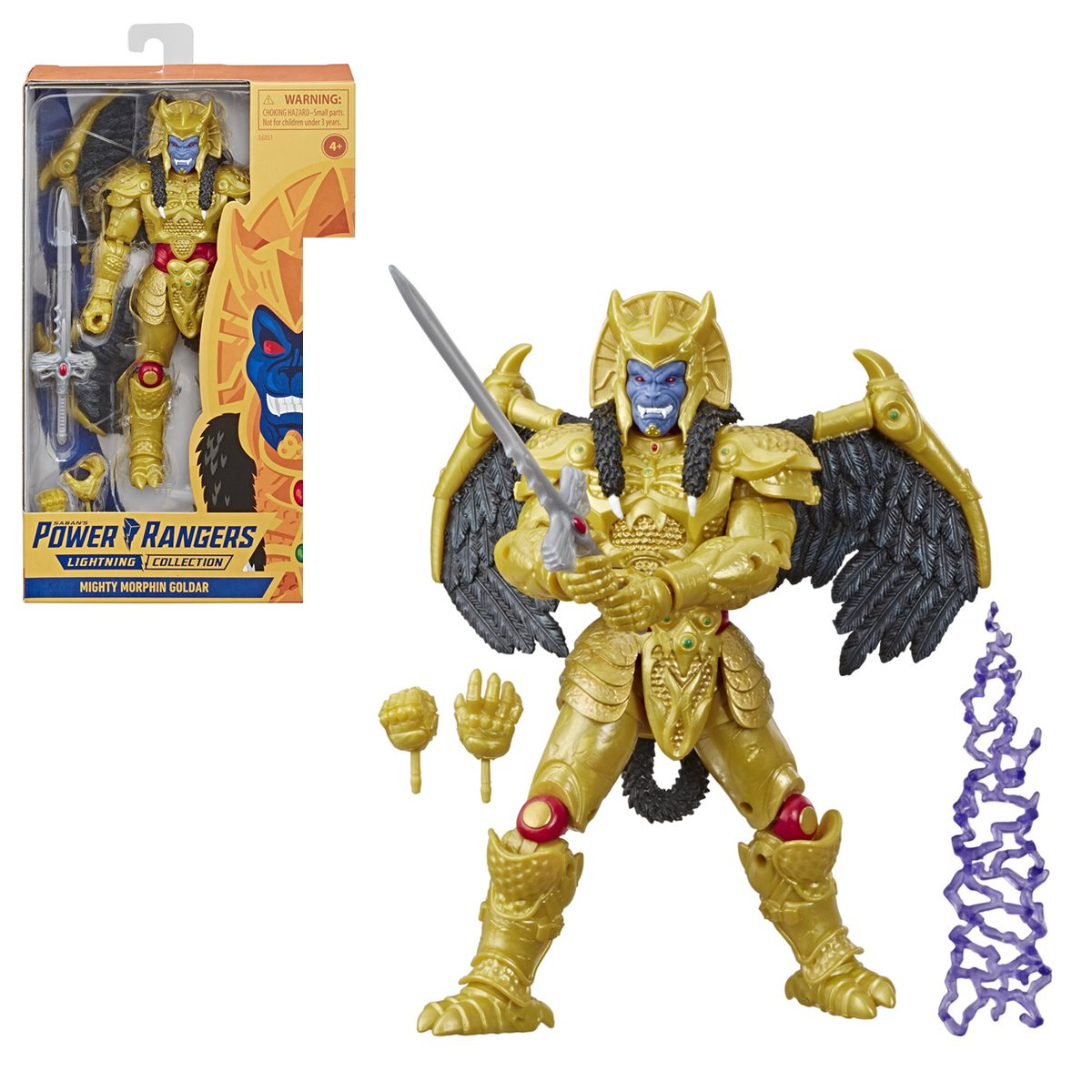 "Goldar Mighty Morphin Power Rangers Lightning Collection 6/"" Action Figure Hasbro"