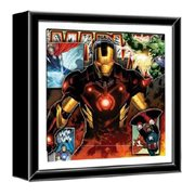 Marvel Iron Man and Avengers Wood Shadow Box