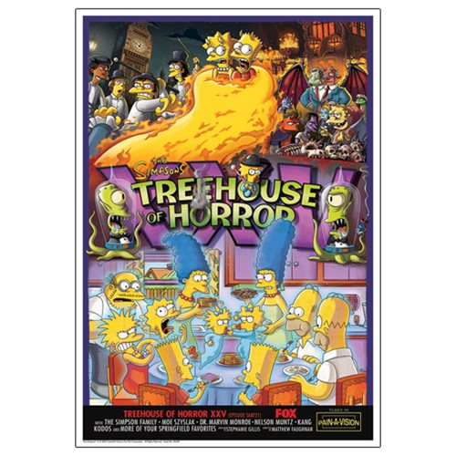 The Simpsons Treehouse of Horror XXV Paper Giclee Print