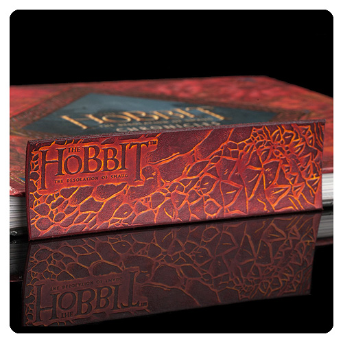 The Hobbit The Desolation of Smaug Dragon Scale Leather Bookmark
